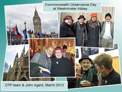 Montage of CPP team attending Commonwealth Observance at Westminister Abbey
