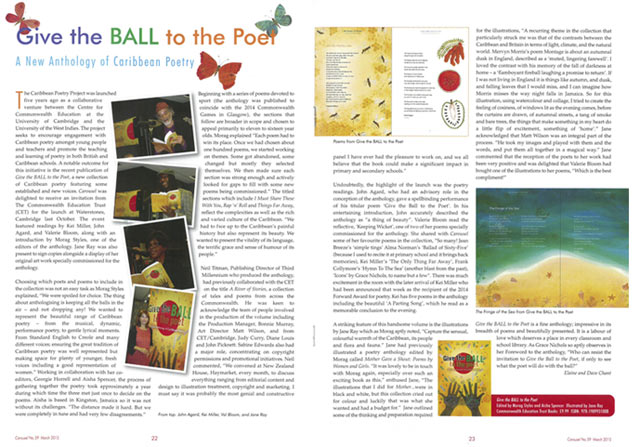 Image of Carousel article on Give the Ball to the Poet anthology